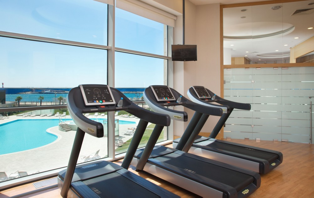 Fitness center wedding